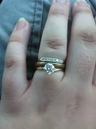 wedding ring on top or bottom weddingbee