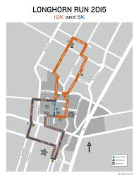 Map Run Route by University Of Texas Longhorn Run Route Map More Info
