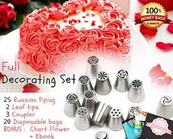 cook arty russian piping tips for cake cupcake icing decorating
