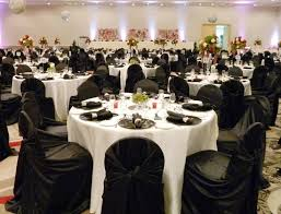 Table Covers For Rent Dining Room White Tablecloths Black Runner Napkins Chair Covers