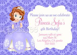 sofia the first birthday invitations