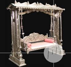 handmade indian porch swing silver white metal porch swing