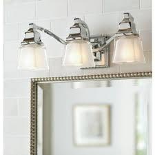 3 light bathroom vanity hton bay 3 light chrome vanity light with etched glass shades