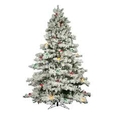 white christmas tree with colored lights the holiday aisle flocked alaskan 9 white artificial christmas tree