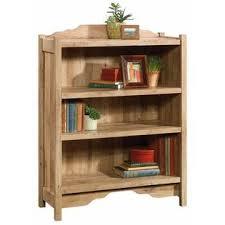 Sauder 3 Shelf Bookcase Sauder Viabella 3 Shelf Bookcase In Antigua Chestnut