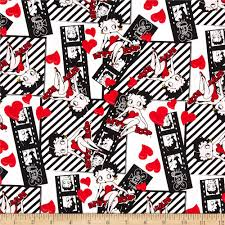 betty boop filmstrips white from fabricdotcom licensed by camelot