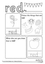 color red worksheets free worksheets library download and print