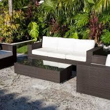 Modern Wicker Furniture by Contemporary Rattan Sofa All Wicker Weather Furniture Set U2014 Desjar