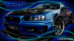 blue nissan skyline fast and furious nissan skyline wallpaper hd 73 images