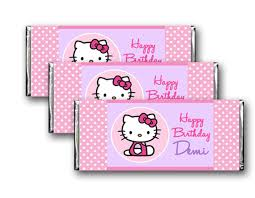 hello kitty candy bar wrappers printable birthday party favor