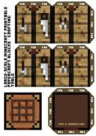 large square craft table large scale minecraft crafting table block minecraft stuff