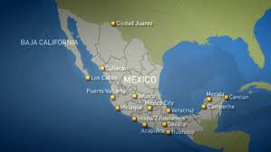 me a map of mexico how safe is mexico for tourists cbc