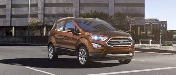 future ford cars 2018 ford ecosport compact suv compact features big
