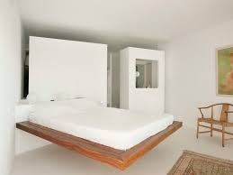floating bed frame floating bed double with headboard backer