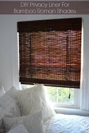 diy privacy liner for bamboo roman shades bamboo roman shades