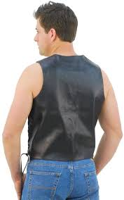 leather biker vest tall side lace leather biker vest w ccw pocket vm606ltsp