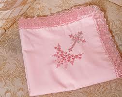 christening blankets personalized personalized baby christening blanket baptism cross satin trim