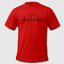 valentines day t shirts lines of heart electrocardiogram heart pulse heart loving couples