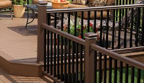 Outdoor Banisters And Railings Deck Railing Composite U0026 Aluminum Deck Railing Timbertech