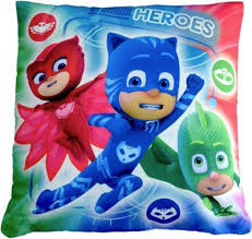 buy disney pj masks u0027heroes villains u0027 printed cushion