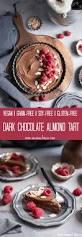dark chocolate almond tart vegan gluten free soy free grain