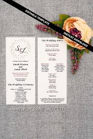 cheap ceremony programs 23 best images about wedding programs on wedding