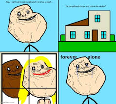 Meme Alone - forever alone guy internet meme picture