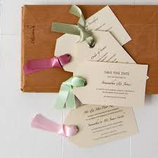 luggage tag wedding invitation by twenty seven