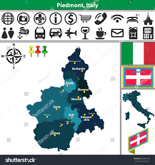 Map Of Italy With Regions by Vector Map Piedmont Regions Location On Stock Vector 549970150