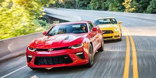 ford old 2016 chevrolet camaro ss vs 2016 ford mustang gt old war new