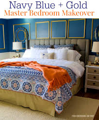 Gold And Blue Bedroom Apartments Picturesque Gorgeous Navy Blue Gold Master Bedroom