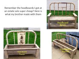 Bench From Headboard How To Make A Bench And Planter From Old Bed Frames Flea Market