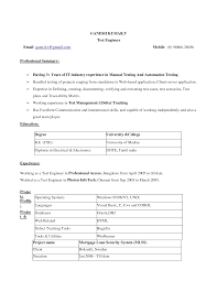 Sample Resume Format In Usa by Spectacular Sample Resume For Ms In Us Application In Resume