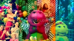 Barney Christmas Ornament Barney And Friends Theme Song Remix Four Colors Effects