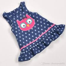 pattern dress baby girl 2018 summer baby girls dresses owl pattern dress 100 cotton polka