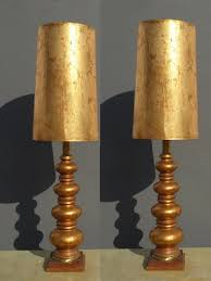 mid century modern table lamp tall pair of vintage hollywood regency gold gilt table lamps mid