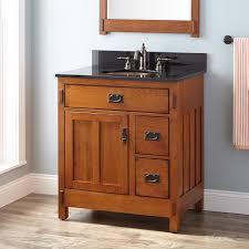 Bathroom Vanities Oak 30 American Craftsman Vanity For Undermount Sink Rustic Oak