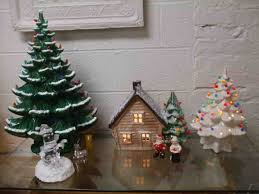 vintage ceramic christmas tree with marbles cheminee website