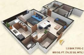 800 sq ft 1 bhk 1t apartment for sale in bakeri shaunak juhapura