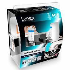 le h7 55w 2x h7 lunex supreme vision 12v 55w car headlight halogen bulbs