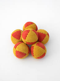 leather juggling balls suede eight panel juggling beanbags