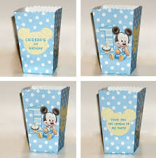 baby mickey 1st birthday printable pink baby mickey mouse 1st birthday popcorn boxs snack