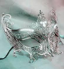silver mask silver mask angel wings silver glitter venetian masks