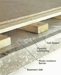 Basement Subfloor Systems - fashionable design ideas basement flooring underlayment subfloors