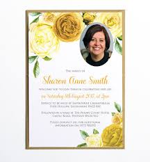 funeral invitation funeral notification cards funeral memorial announcement or