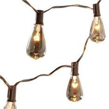 Edison Lights String by Allen Roth 10 Light Edison Style Brown Patio String Lights For
