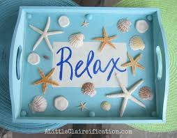 themed serving tray diy seashell serving tray starfish crafts and decor
