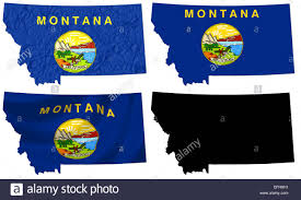 Montana State Flag Recycled Maps Cool Us Road Atlas Wall Collage Apartment Therapy