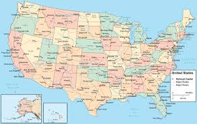Map Of United States And Capitals by Map Of Usa Free Large Images