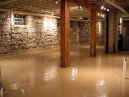Cement Walls In Basement by Basement Stone Walls Decorative Basement Floor With Stone